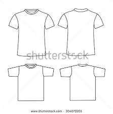 blank tshirt template front back stock vector 295330430 shutterstock