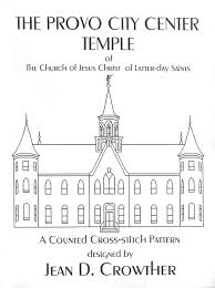 halloween city provo the provo city center utah temple cross stitch pattern lds cross