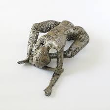 woman sculpture wire mesh sculpture modern metal art