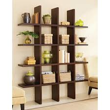 Designer Shelves Great Brown Color Of Bookcase With Simple Model And Style In