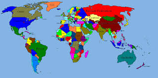 large world map with countries throughout big roundtripticket me