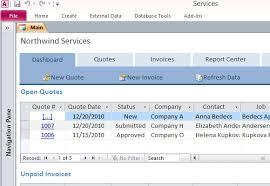 desktop services template for access
