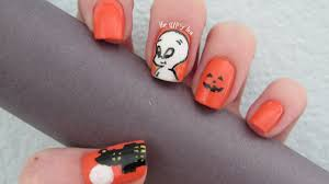 casper the friendly ghost nail art design halloween nails youtube