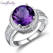 amethyst diamond engagement ring 14k white gold amethyst ring promotion shop for promotional 14k