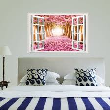 compare prices on cherry blossom tree decal online shopping buy wallpaper 3d window cherry blossom tree art home decor wall sticker wall decals wall art