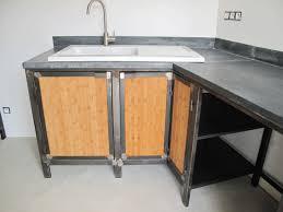 cuisine bois acier cuisine acier zinc et bois bigood