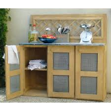 desserte cuisine ext駻ieure meuble cuisine exterieure bois desserte de jardin meuble cuisine