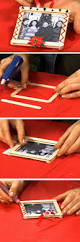 popsicle stick picture frame xmas decorations pinterest