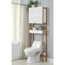 bathroom saving space furniture design by using over the toilet