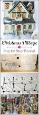 how to create a christmas village display tutorial
