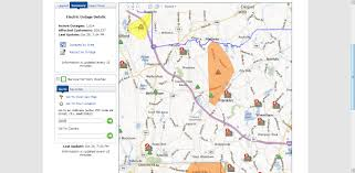 Virginia Power Outage Map by Franklin Matters October 2012
