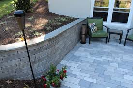 Unilock Retaining Wall Patio And Retaining Wall Project U2013 Akron Pa Tomlinson Bomberger