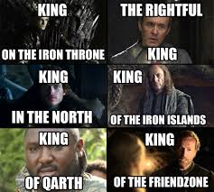 King Of The North Meme - at the end they all will be kings of nothing game of thrones