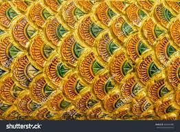 thai design pattern naga fabulous serpent stock photo 302844980
