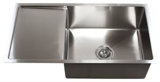 Chic Large Single Bowl Kitchen Sink With Drainer Large Double - Large kitchen sinks stainless steel