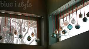 seasonal style a glass ornament window display blue i style
