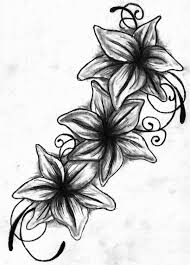 Flower Drawings Black And White - tattoo drawings lily tattoo drawing black and white by