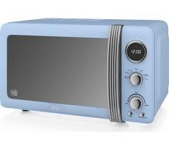 Retro Toaster Ovens Buy Swan Retro Digital Sm22030bln Solo Microwave Blue Free