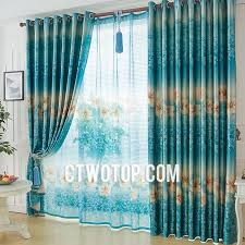 Teal And Beige Curtains Floral Beautiful Custom Country Teal Blue Curtains Online