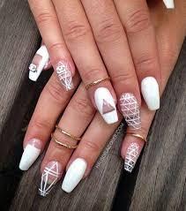 50 white nail art ideas white nails geometric designs and