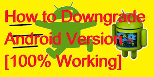 version of android how to downgrade android version 100 working