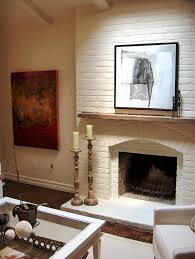 how to paint a brick fireplace white ideas home fireplaces