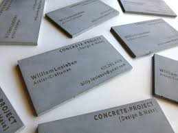concrete business cards business cards concrete project