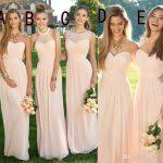 cheap bridesmaid dresses 2016 pink navy cheap bridesmaid dresses mixed neckline flow