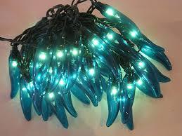 35 light turquoise peppers lights novelty lights