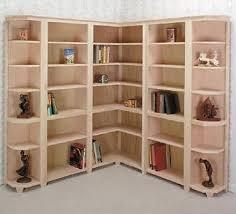 modern corner bookcase plans design home decoration improvement