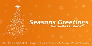 merry christmas netball australia netball australia