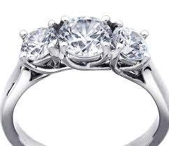 pretty stone rings images Three stone trellis diamond engagement ring in platinum shop for jpg