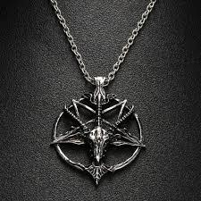 skull pendant necklace images Baphomet gothic occult goat skull pendant necklace rock 39 n doll jpg
