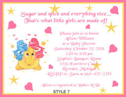 care baby shower care bears adorable baby shower invitations ebay