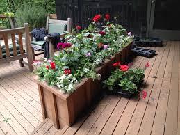 large center deck flower box idea of deck flower box designs nice