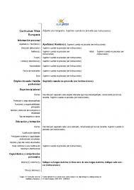 best curriculum vitae pdf modelo de curriculum en espaã ol resume template example