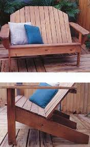 adirondack sofa outdoor wood plans immediate download