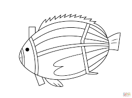 aboriginal painting of fish coloring page free printable