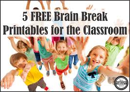 5 free brain break printables your therapy source
