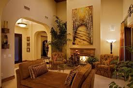 tuscan style living room lamp standing corner beige curtain big