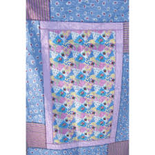 shabby chic pastel flannel rag quilt nicci vale