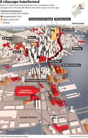 Boston Red Line Map by Boston U0027s Changing Skyline