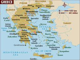Ancient Greece On A World Map by Map Of Greece A Basic Map Of Greece And The Greek Isles