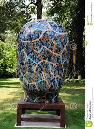 Ceramic Garden Spheres Funky Psychedelic Abstract Jun Kaneko Ceramic Art Exhibit At The