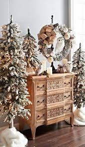 snowflake table top decorations 30 dreamy flocked christmas tree decoration ideas christmas