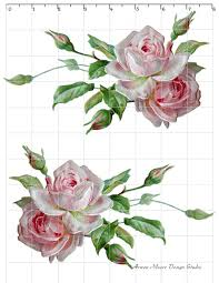 Shabby Chic Rose by De Ro 97 Beautiful Romantic Shabby Style Pale Pink Rose Spray