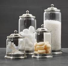 Bathroom Storage Jars Apothecary Pewter Glass Bath Jars Restoration Hardware