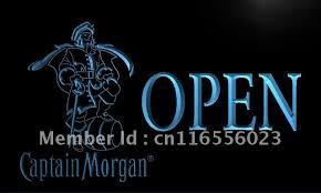captain morgan neon bar light la053 captain morgan beer open bar led neon light sign home decor