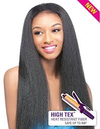 partial sew in hairstyles for synthetic hair amazon com outre synthetic hair half wig quick weave annie 1