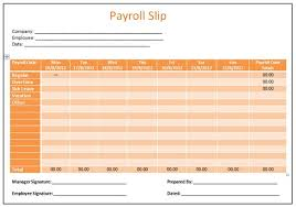 Free Excel Payroll Template Microsoft Word Templates Payroll Slip Template